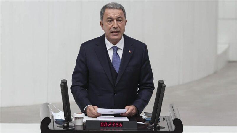 Bakan Akar'dan Doğu Akdeniz tepkisi
