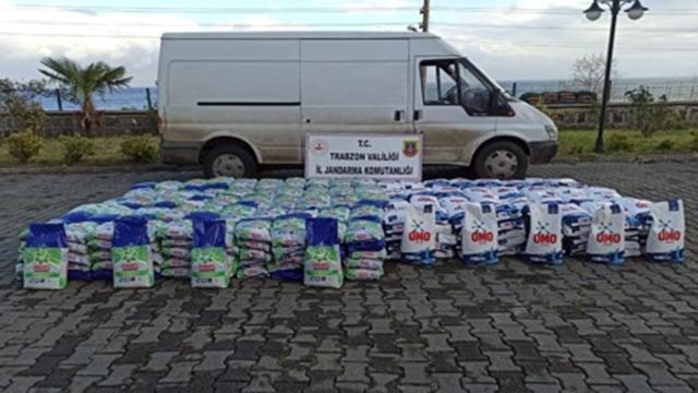 Trabzon'da 4 ton sahte deterjan ele geçirildi