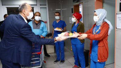 Büyükşehir'den sağlıkçıları vitamin desteği…