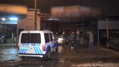 Bursa'da oto tamircide patlama