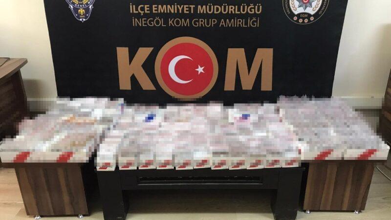 Bursa'da ele geçirildi! 13 bin adet satışa hazır…