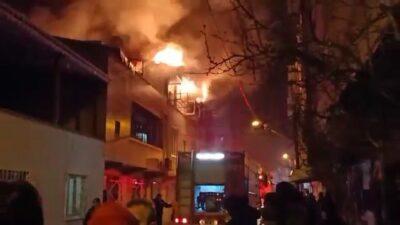 Bursa'da yangın! Bir anda alevler yükseldi