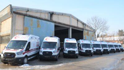 Bursa'ya 10 yeni ambulans daha