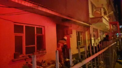 Bursa'da tek katlı evde yangın