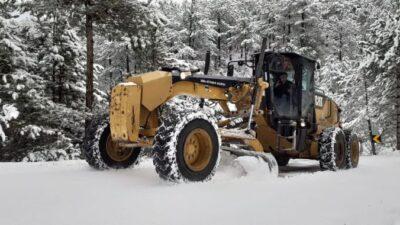 Büyükşehir'de kar seferberliği