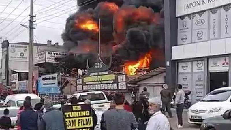 Bursa'da büyük yangın! Alevler bir anda yükseldi…