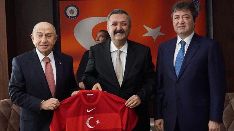 TFF heyeti Bursa'da… Özdemir ve Çağlar'dan Emniyet Müdürü Aslan'a ziyaret
