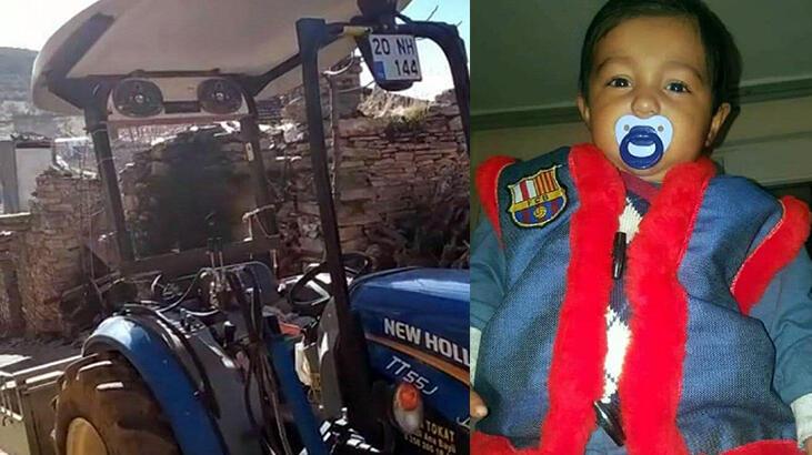 11 yaşındaki çocuğun kullandığı traktörden düşen 3 yaşındaki kardeşi öldü