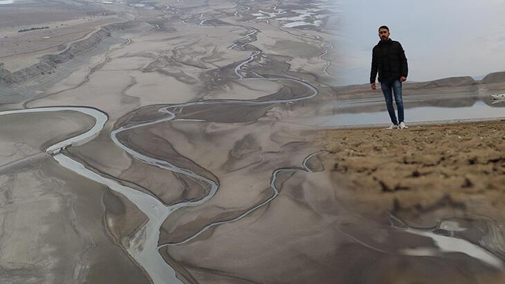 Ürküten görüntü! Barajdan geriye nehir yatağı kaldı