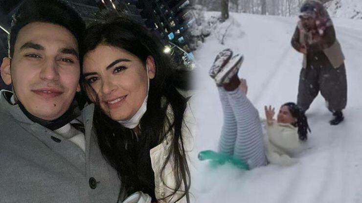 Hanife Gürdal ve ailesinin kar macerası hastanede bitti…