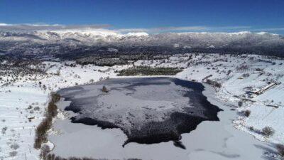 Gököz Göleti'nden kartpostallık görüntüler