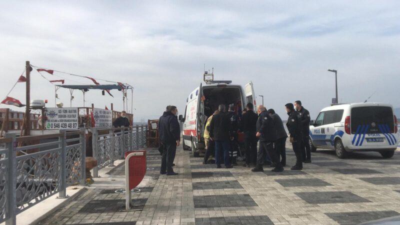 Bursa'da bir kadın denize düştü