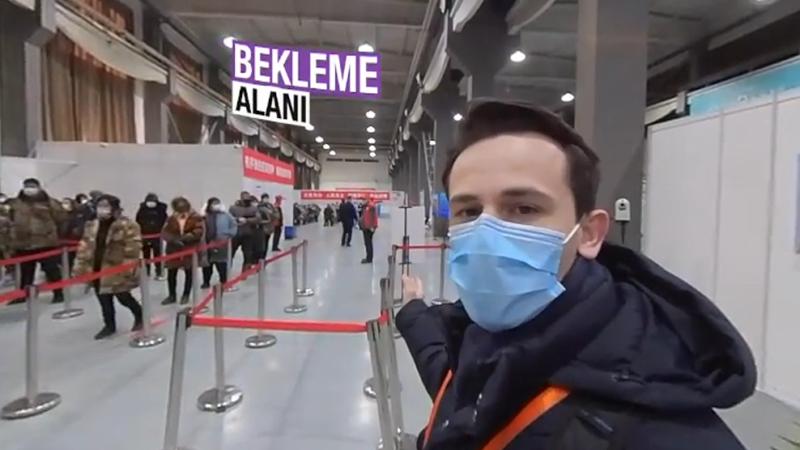 Türkiye'ye gelen aşılar Çin'de nasıl vuruluyor? Bursalı gazeteci o anları çekti…