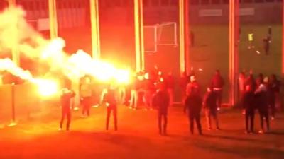 Bursaspor taraftarından büyük destek… Özlüce'yi inlettiler!