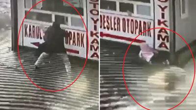 Yer: Bursa… Buzlu yolda düşen babanın kızını koruma çabası…