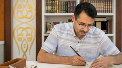Bursalı sanatçıların tablosu Eyüp Sultan Camii'ne asıldı