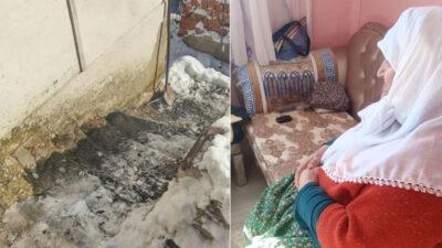 Bursa'da fil hastası kadın, yıkılan merdivenler yüzünden evde hapis kaldı