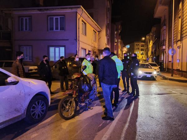 Bursa'da motosikletle elektrikli bisiklet çarpıştı