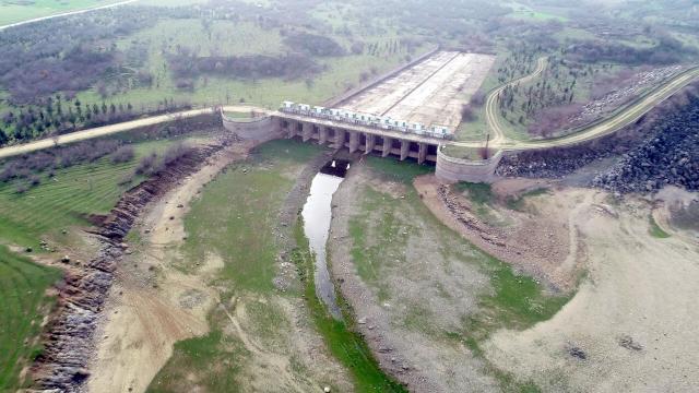 Trakya'daki barajlarda doluluk oranı yüzde 33'e düştü