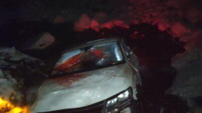 Bursa'da feci kaza! Uçurumdan aşağı uçtu