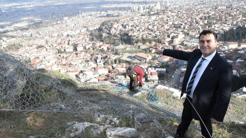 Bir mahallenin imdadına Osmangazi yetişti! Uludağ'ı çelik ağlarla ördüler…