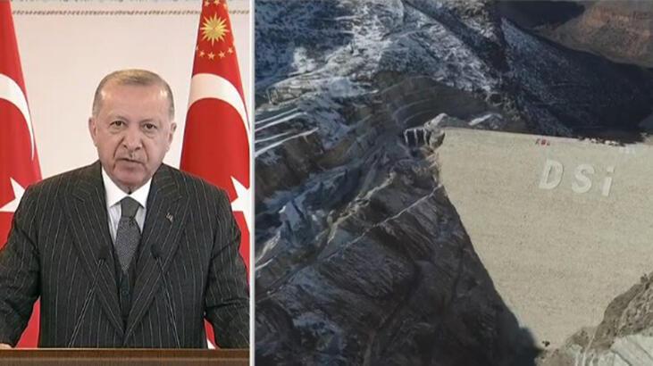 Cumhurbaşkanı Erdoğan Silvan Barajı açılışını yaptı…