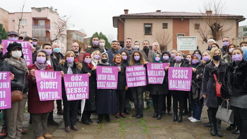 İYİ Parti'li kadınlar tepkili! Cinayet mahallinde protesto…