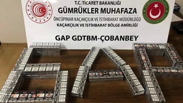 Kilis'te 260 paket kaçak sigara yakalandı