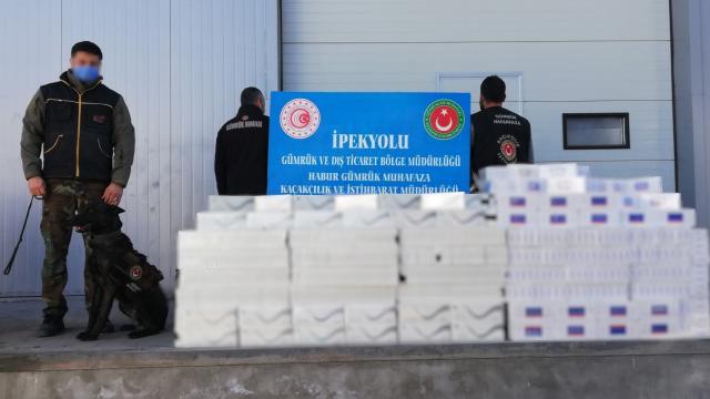 Habur'da 29 bin paket kaçak sigara ele geçirildi