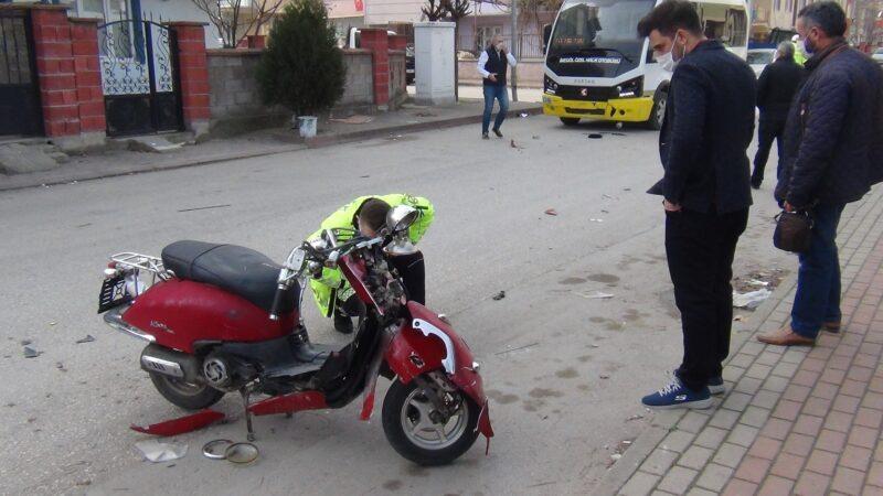 Motosiklet yarışı kazayla bitti! Bakın sürücü ne yaptı?