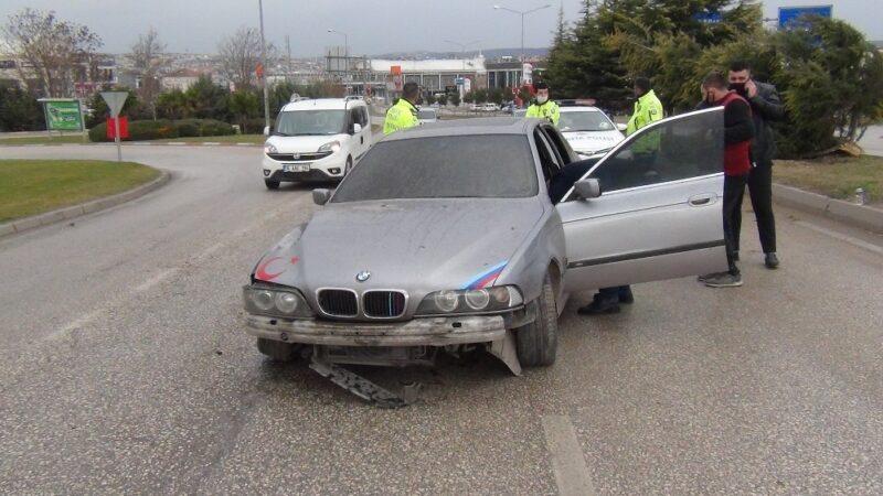 Bursa'da kısıtlama saatinde yürekleri ağza getiren kaza