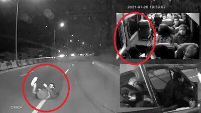 Bursa'da dehşet anları! Bir anda minibüsün önüne atladı…