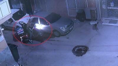 Bursa'da pizzacının motosikletini böyle çaldı