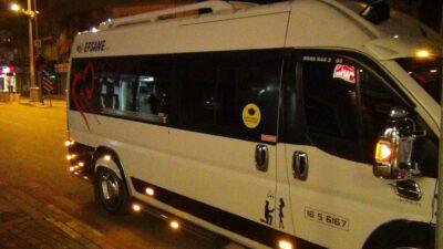 Yer: Bursa… Servis aracına taktırdıkları ışıklar yüzünden ceza yedi