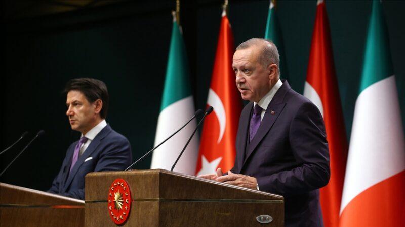 Cumhurbaşkanı Erdoğan, İtalya Başbakanı ile telefonda görüştü
