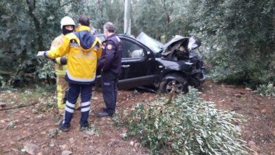 Yağışla gelen ölüm… Bursa'da taklalar atarak zeytin bahçesine uçtu