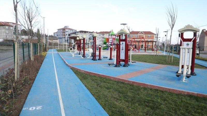 Yeniceköy'de çocuk oyun alanı hizmete girdi