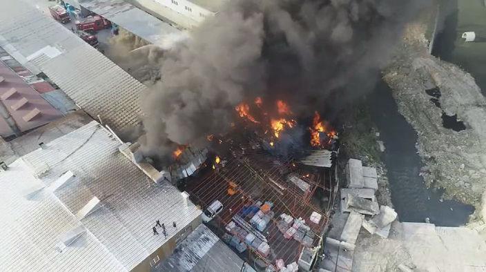 Korkutan yangın! Ekipler bölgede…