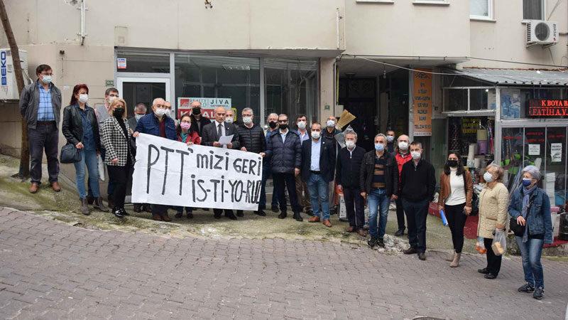Bursa'da PTT'ye tepki var!