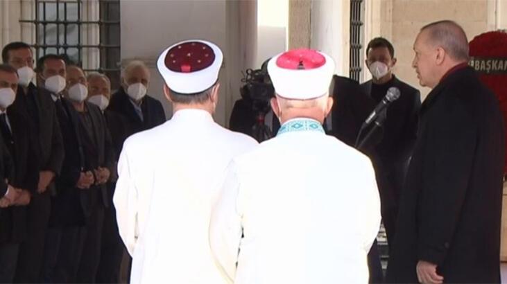 Cumhurbaşkanı Erdoğan, Hafız Abdullah Nazırlı'nın cenaze töreninde