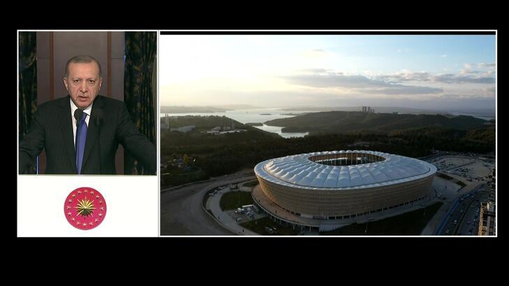 Cumhurbaşkanı Erdoğan'dan stadyum açılışı…