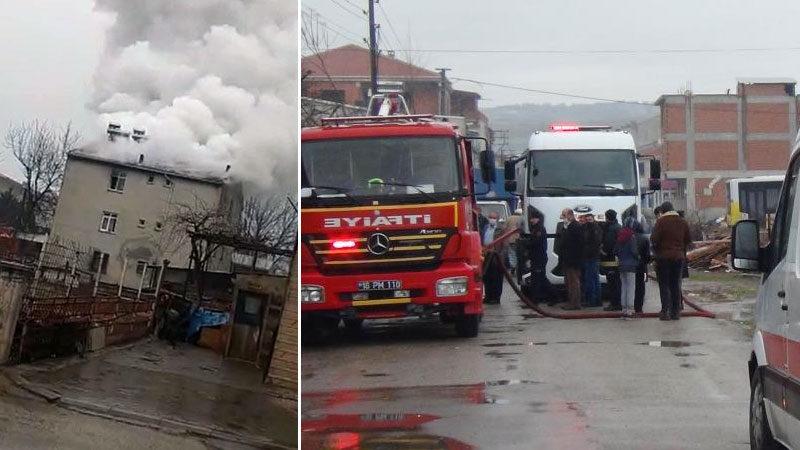 Bursa'da yangın paniği! Mahalleli sokağa döküldü