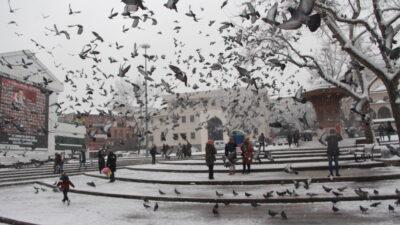 Bursa'dan kar manzaraları…