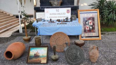 Bursa'da 3,5 milyon liralık tarihi eser operasyonu