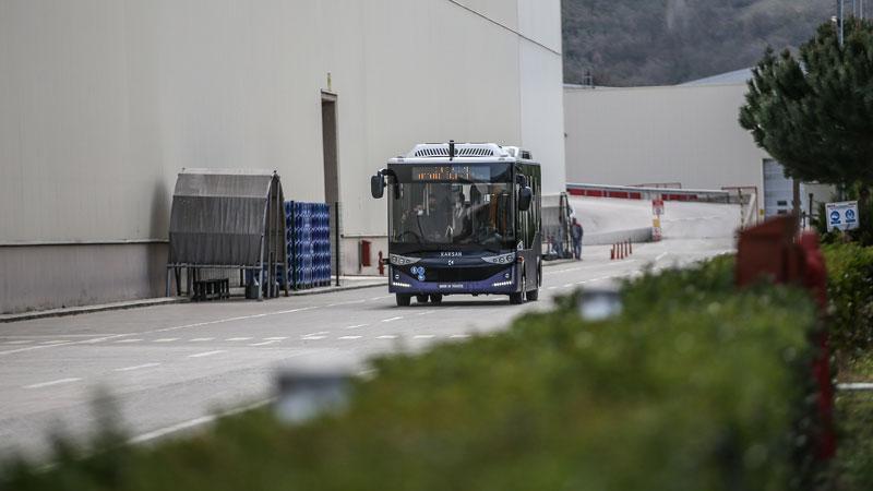 Cumhurbaşkanı Erdoğan'ın test ettiği elektrikli sürücüsüz otobüs Bursa'da tanıtıldı