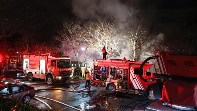Boğaziçi Üniversitesi kampüsündeki kafeteryada yangın