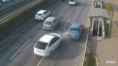 Bursa'daki 2 kaza kamerada