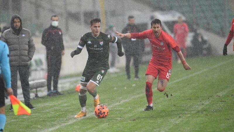 Bursaspor'un gol zinciri 20 maç sürdü