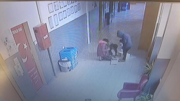 Bursa'da okuldan hırsızlık kamerada
