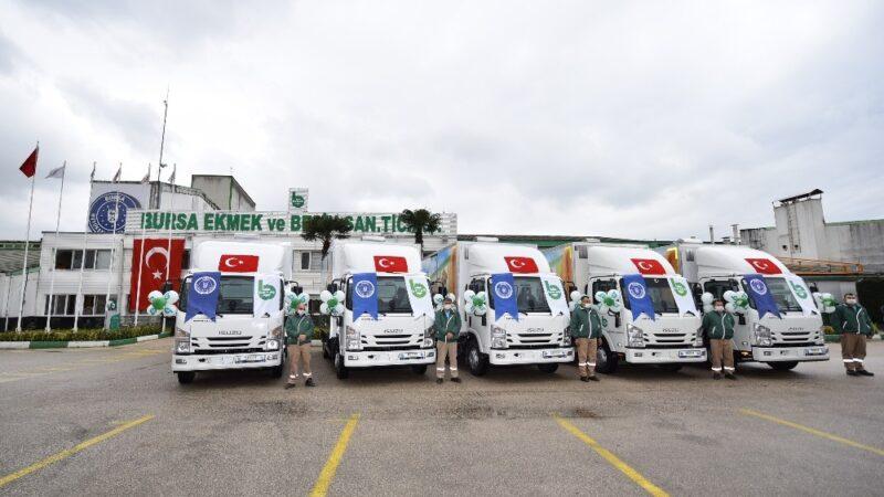 BESAŞ filosuna 5 yeni fiber kasa kamyon daha